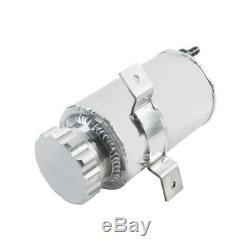 0.75L Aluminum Alloy Radiator Overflow Coolant Expansion Tank Silver AU SHIP NEW