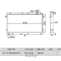 2 ROW ALUMINIUM ALLOY RADIATOR MAZDA MIATA MX-5 MX5 1.6 1.8 1990 1998 Manual