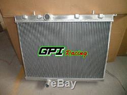 2 Row Aluminum Radiator For Peugeot 206 Gti/rc 180 1999-2008 00 01 02 03 04 05