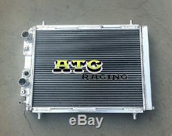 2 Row Aluminum Radiator for Lancia Delta HF Integrale 8V/16V/EVO 2.0 Turbo 87-95