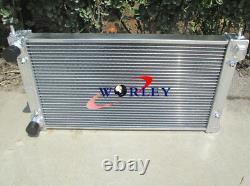 2 row FOR VW GOLF MK1 MK2 GTI/SCIROCCO 1.6 1.8 8V MT ALUMINUM ALLOY RADIATOR