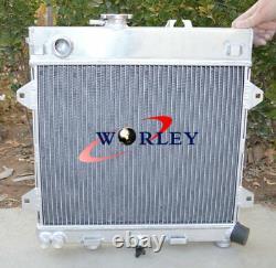 2 rows aluminum radiator for BMW E30 M10 316i 318i 1982-1991 Manual MT + FAN