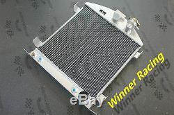 21.5 aluminum alloy radiator Ford hot rod chopped withChevy SB V8 engine 30-32