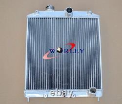 28MM PIPE 3 ROW Aluminum Radiator+SHROUD+FAN Honda Civic EK EG D15 D16 92-00 MT