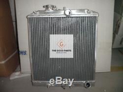 3 ROW 1992-2000 Honda Civic EK EG D15 D16 28MM PIPE ALUMINUM RADIATOR&SHROUD&FAN