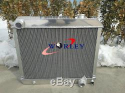 3 ROW Aluminum Radiator + FAN Chevy Truck C10 C20 C30 1963-1966 63 1964 65 66