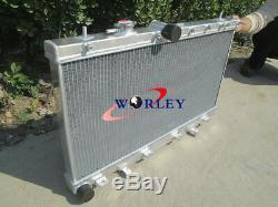 3 ROW Aluminum Radiator +FAN For SUBARU IMPREZA 2.0 TURBO WRX/STI GDB 00-07 MT
