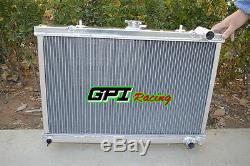 3 ROW FOR Nissan Skyline R32 RB20 GTS GTR / S13 CA18 89-93 Aluminum Radiator MT