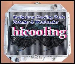 3 ROW FORD F100 F250 F350 V8 RADIATOR 67-81 aluminum alloy radiator + 12 FAN