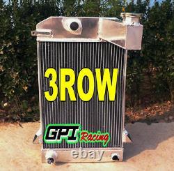 3 Row All Aluminum Alloy Radiator For Triumph TR2/TR3/TR3A/TR3B MT 62MM CORE