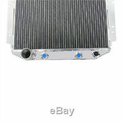 3 Row Aluminium V8 Conversion Radiator For 1964-1966 Ford Mustang 302 5.0L V8