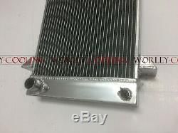 3 Row Aluminum Alloy Radiator For Triumph TR2/TR3/TR3A/TR3B MT manual 3 core