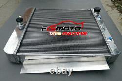 3 Row Aluminum Radiator For 1955-1959 Chevy Pickup Truck V8 55 56 57 58 59 At/mt