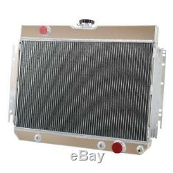 3 Row Aluminum Radiator For 1963-1968 66 Impala Many Chevy Gm Cars At/mt Uk Ship