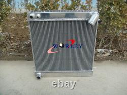 3 Row Aluminum Radiator for Jaguar XKE Series 1 S1 4.2L 1965 1966 1967 Manual MT