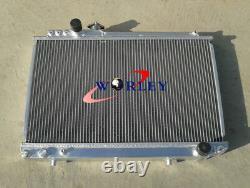 3 Row For TOYOTA SUPRA MK3 SOARER MZ20 7M-GTE 1986-1992 Aluminum Radiator & Fans