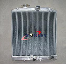 3 row Aluminum Radiator&Shroud &Fan for 1992-2000 Honda CIVIC EG EK B16 B18