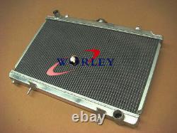 3ROW 52mm Aluminum Alloy Radiator&SHROUND&FAN for Nissan Silvia S14 S15 SR20DET