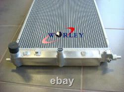 3ROW Aluminum Alloy Radiator for Ford BA BF Falcon V8 XR8 XR6 Turbo AT/MT + Fans