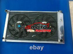 3ROW Aluminum Radiator + Fans for Pontiac Firebird / Trans Am 1970-1981 71 72 73