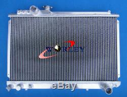 3row FOR TOYOTA SUPRA SOARER MK3 MA707M-GTE 3.0L 86-92 ALUMINUM RADIATOR + FANS