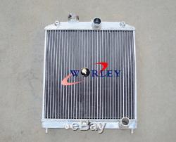 4 ROW Honda CIVIC EG EK B16 B18 92-00 32MM PIPE Aluminum Radiator + shroud+fan