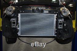 40mm ALUMINIUM ALLOY RACE RADIATOR RAD FOR FIAT 500 ABARTH 1.4 TURBO 08-18