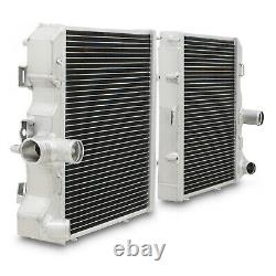 40mm ALUMINIUM RACE RADIATOR KIT FOR PORSCHE 911 997 BOXSTER 987 2.7 3.2 3.6 3.8