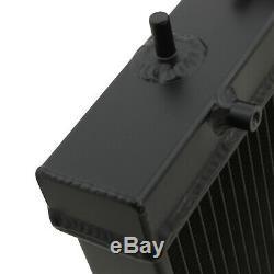 40mm BLACK ALUMINIUM RADIATOR RAD FOR SUBARU IMPREZA GDA GDB WRX STI TURBO 03-07