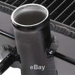 40mm Black Edition Alloy Race Radiator For Mitsubishi Evo 4 5 6 IV V VI Fq Mr