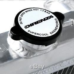 40mm DIRENZA ALUMINIUM SPORT RACE RADIATOR RAD FOR FORD ESCORT MK2 RS2000 74-81
