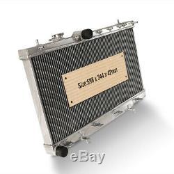 42mm Aluminum Radiator fits Subaru Impreza Newage GDA GDB WRX STI TURBO 03-07