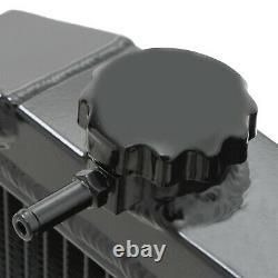 42mm BLACK ALUMINIUM SPORT RADIATOR RAD FOR HONDA CIVIC EG EK EH EJ EM 88-00