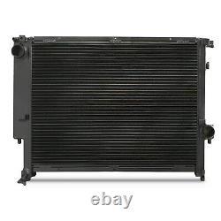 42mm HIGH FLOW BLACK ALUMINIUM RADIATOR RAD FOR BMW 3 SERIES E36 3.0 3.2 M3 Z3