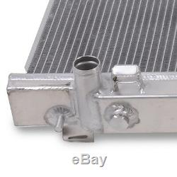 50mm ALUMINIUM TWIN CORE RACE ENGINE RADIATOR RAD FOR NISSAN 350Z Z33 3.5 03-06