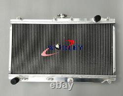 52MM for 1998-2005 Mazda MX-5 NB Roadster Miata MX5 MT Aluminum radiator + Fans