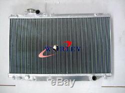 52mm Aluminum Radiator For TOYOTA SUPRA MK4 JZA80 2JZ-GTE Twin Turbo 93-98 MT