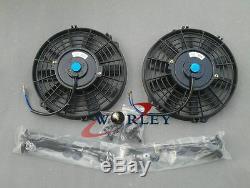 52mm Aluminum Radiator & Shroud & Fans For Nissan Silvia S13 CA18DET CA18 MT
