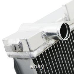 55mm TWIN CORE ALUMINIUM RACE RADIATOR RAD FOR LAND RANGE ROVER 2.5 TD P38 94-99