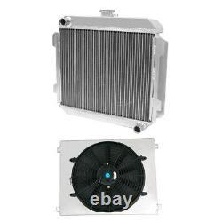 56MM Aluminum Radiator & Fan Shroud fits CAPRI RS/ESCORT SUPERSPEED MK1 ESSEX V6