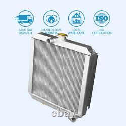56MM Full Aluminum Race Radiator fit Land Rover Series 3 4CYL 2A Diesel Petrol