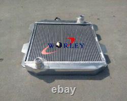 56MM for Ford Capri MK2 MK II 2600/2800 V6 1974-1977 MT Aluminum Radiator+FAN