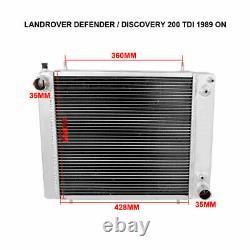 ALUMINIUM ALLOY RADIATOR FOR Land Rover DISCOVERY / DEFENDER RANGE ROVEII 200TDI