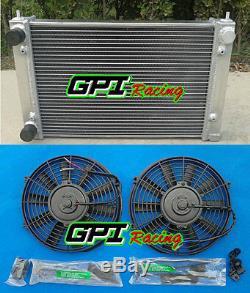 ALUMINUM RADIATOR& Fans VW CORRADO SCIROCCO JETTA GOLF GTI MK2 1.8 16V 1986-1992