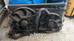 AUDI S3 8L TT MK1 8N ALUMINIUM RACE RADIATOR RAD WITH STANDARD FANS 1.8T 20v 225