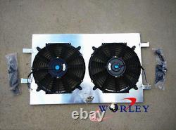 Alloy Aluminum Radiator Shroud+Fan for Holden Commodore VY V8 02 03 04 2002 2003