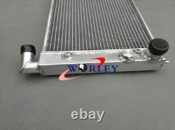 Alloy Aluminum radiator + Fans For VW Golf 2 Corrado VR6 Turbo Manual MT
