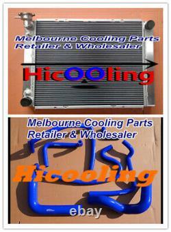 Alloy Radiator VG VL VN VP VR VS V8 for Holden Commodore 5.0L SS 304 BLUE Hose