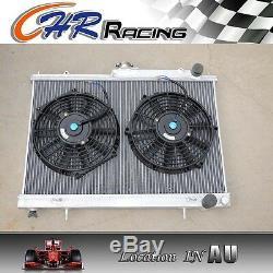 Alloy aluminum radiator& fans FIT NISSAN SKYLINE R33 GTS-T RB25DET MANUAL