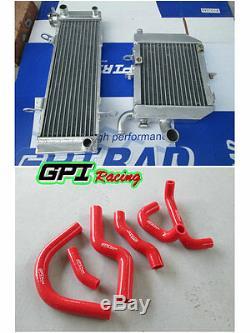 Alloy radiator+hose FOR HONDA RVF400 NC35 or NC30 VFR400 lower with fan bracket